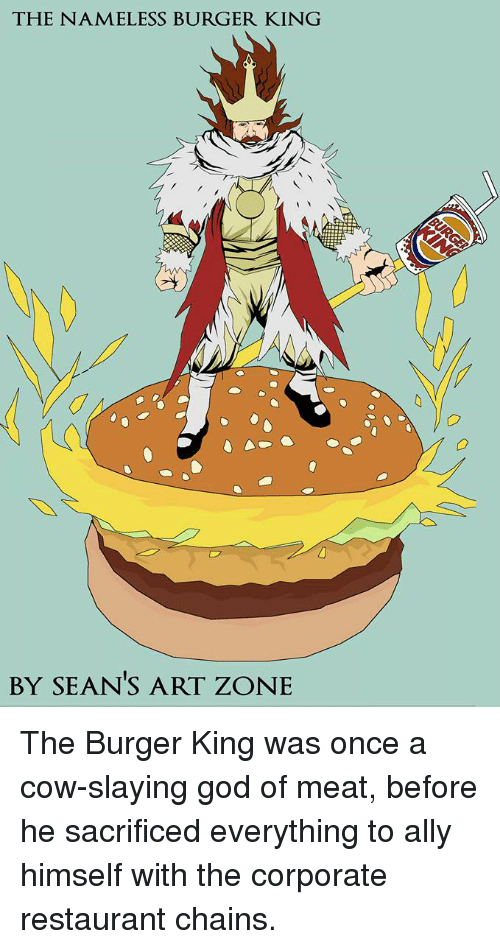 the nameless burger king by sean s art zone the burger king was once