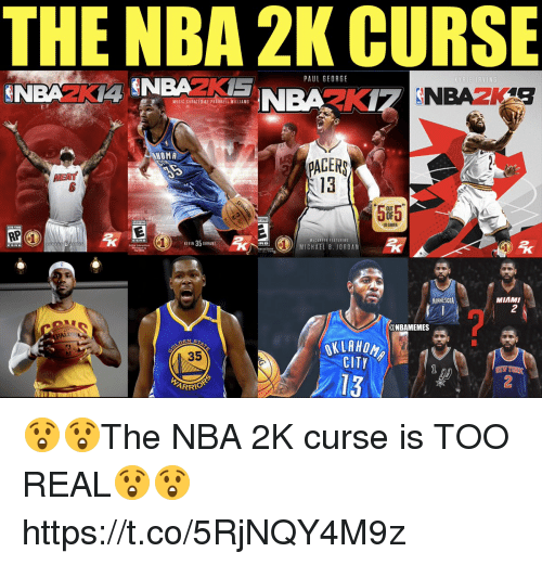 Michael B. Jordan, Nba, and Pharrell: THE NBA 2K CURSE  PAUL GEORG  MESIC CORATEDAY PHARRELL ILLIAMS  HOMA  PAGER  13  EAT  5F5  ONE  US GAMER  VICLEFER FEATURING  MICHAEL B. JORDAN  MINNESOTA  MIAMI  2  ALD  @NBAMEMES  35  CITY  13  ARRIO  2 😲😲The NBA 2K curse is TOO REAL😲😲 https://t.co/5RjNQY4M9z
