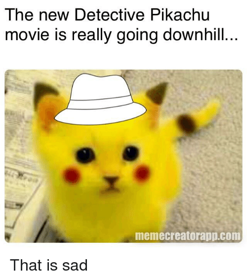 The New Detective Pikachu Movie Is Really Going Downhill