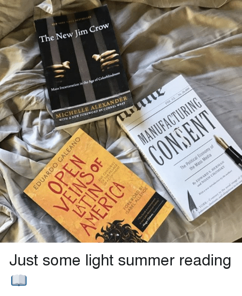 Memes, Summer, and 🤖: The New Jim Crow  MICHELLE ALEXANDER Just some light summer reading 📖