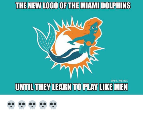 the new logo of the miami dolphins nfl memes until 11996608 the new logo of the miami dolphins memes until they learn to play