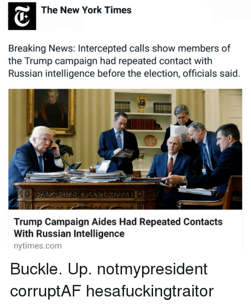 the new york times breaking news intercepted calls show members of