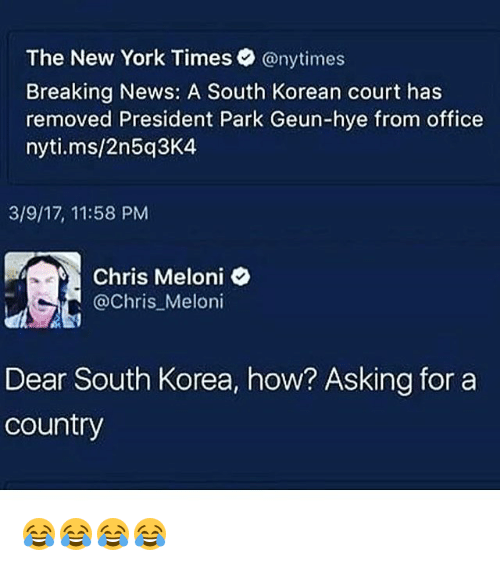 the new york times breaking news a south korean court has removed