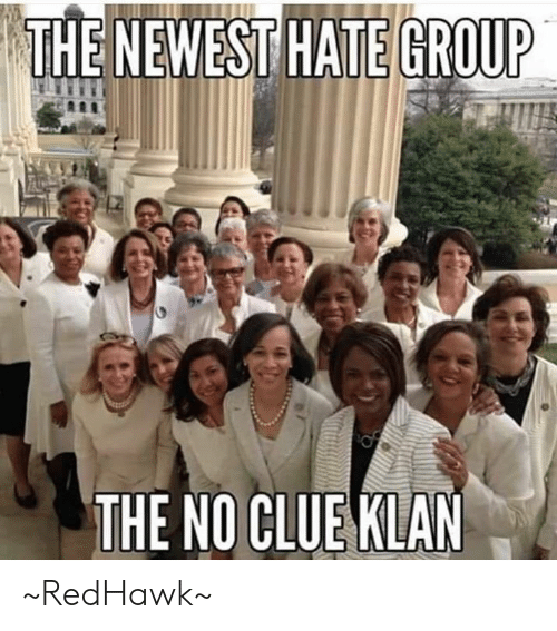 Memes, 🤖, and Clue: THE NEWEST HATE GROUP  THE NO CLUE KLAN ~RedHawk~