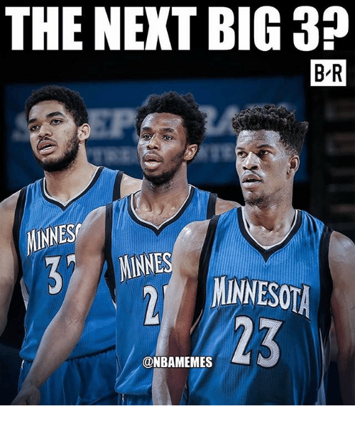 Nba, Minnesota, and Next: THE NEXT BIG 3?  B R  MINNES  NINNES  MINNESOTA  23  @NBAMEMES