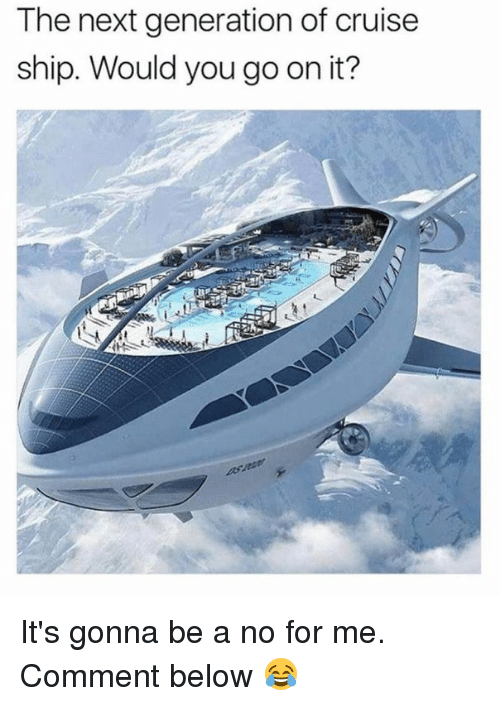 Dank, Cruise, and 🤖: The next generation of cruise  ship. Would you go on it? It's gonna be a no for me. Comment below 😂