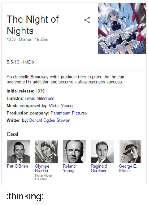 Anime Music And Business The Night Of Nights 1939 Drama 1h 26m 55
