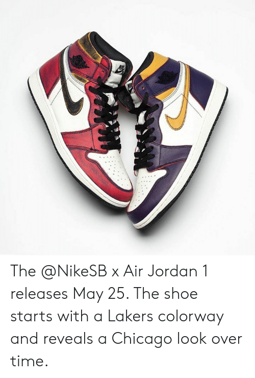 check-out 20a8d c3bdf The X Air Jordan 1 Releases May 25 the Shoe Starts With a ...
