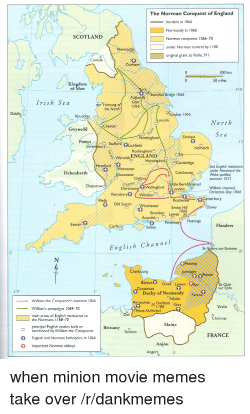 how did the normans control england