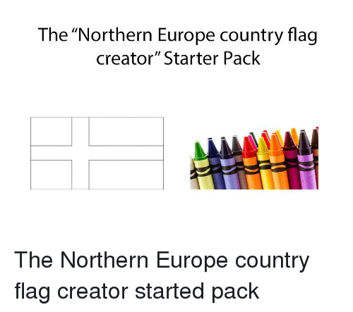 The Northern Europe Country Flag Creator Starter Pack