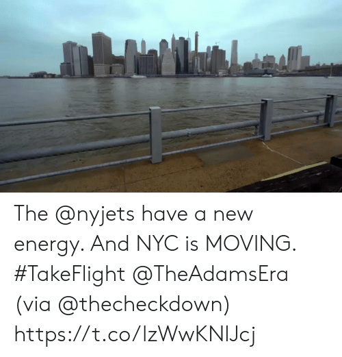Energy, Memes, and 🤖: The @nyjets have a new energy. And NYC is MOVING. #TakeFlight @TheAdamsEra   (via @thecheckdown) https://t.co/lzWwKNlJcj