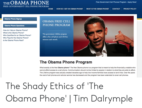 The O BAMA PHONE Free Government Cell Phones Program -Apply Now