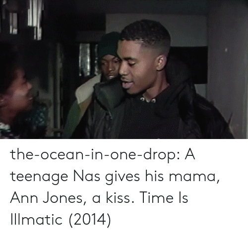 Nas, Tumblr, and Blog: the-ocean-in-one-drop:   A teenage Nas gives his mama, Ann Jones, a kiss. Time Is Illmatic (2014)