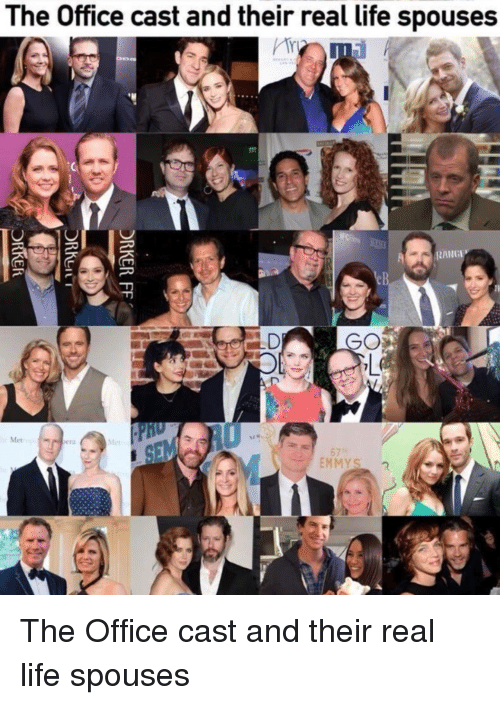 The Office Cast and Their Real Life Spouses RANGE GO Met Pcr