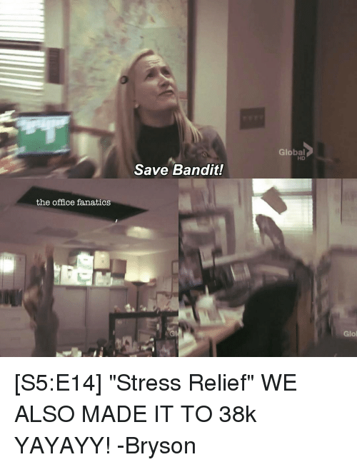 The Office Fanatics Save Bandit Global Hd Glo S5e14 Stress Relief