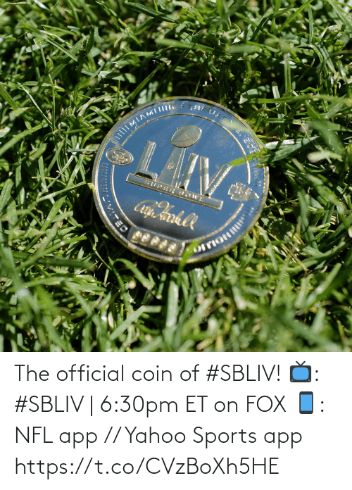 Memes, Nfl, and Sports: The official coin of #SBLIV!  📺: #SBLIV | 6:30pm ET on FOX 📱: NFL app // Yahoo Sports app https://t.co/CVzBoXh5HE