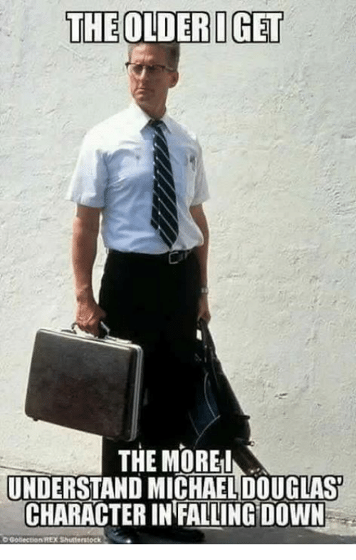 the olderiget the more understand michaeldouglas character in falling down 20529909 ✅ 25 best memes about falling down falling down memes,Down Down Meme