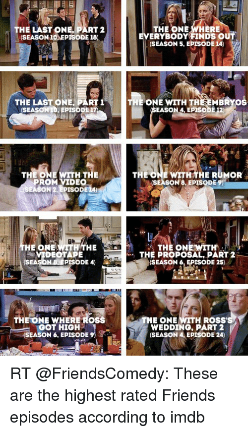 The ONE WHERE THE LAST ONE PART 2 EVERYBODY FINDS OUT SEASON