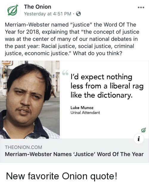 f7b78c68b98e6 The Onion Yesterday at 451 PM Merriam-Webster Named Justice the Word ...