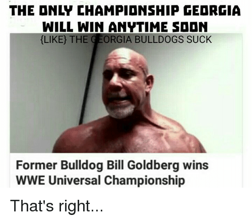the onl championship georgia will win anytime sddn like