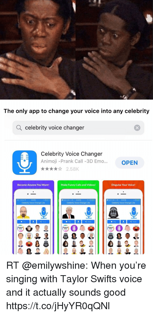 The Only App to Change Your Voice Into Any Celebrity Q Celebrity