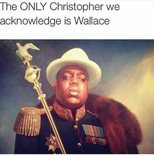 Memes, 🤖, and Christopher: The ONLY Christopher we  acknowledge is Wallace