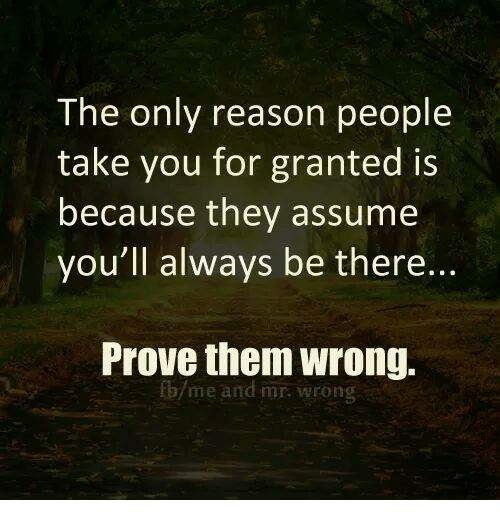 You granted for people when take Taken For