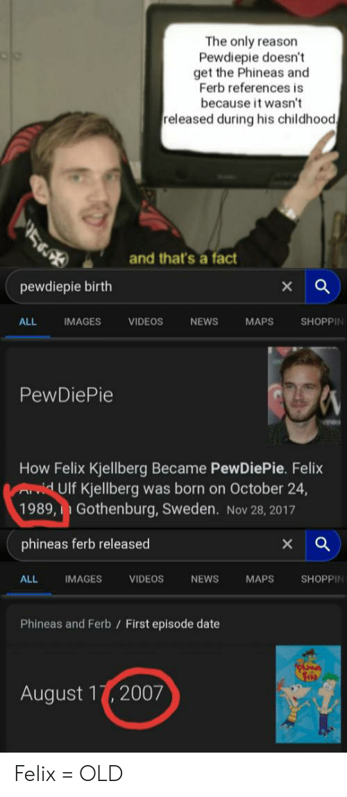 The Only Reason Pewdiepie Doesn't Get the Phineas and Ferb