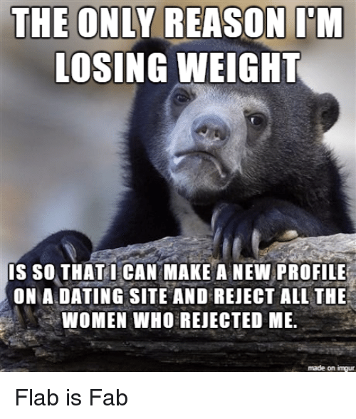 Rejected on dating sites