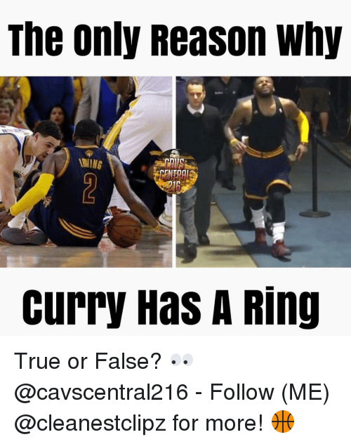 Memes, True, and Reason: The only Reason why  WING  Curry Has A Ring True or False? 👀 @cavscentral216 - Follow (ME) @cleanestclipz for more! 🏀