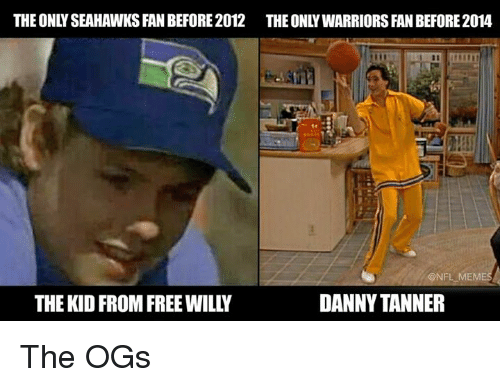 Nfl, Free, and Seahawks: THE ONLY SEAHAWKS FAN BEFORE2012 THE ONLYWARRIORS FAN BEFORE 2014  @NFL,MEM  THE KID FROM FREE WILLY  DANNY TANNER The OGs