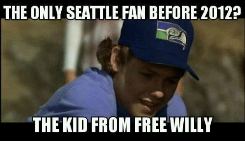 Nfl, Free, and Seattle: THE ONLY SEATTLE FAN BEFORE 2012?  THE KID FROM FREE WILLY