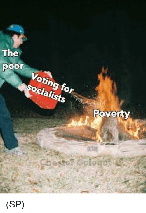 Memes, 🤖, and Poverty: The  oo Voting for  socialists  Poverty (SP)