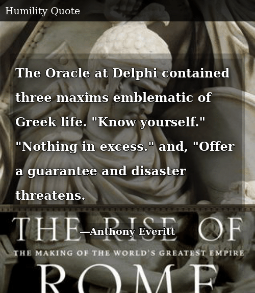 The Oracle at Delphi Contained Three Maxims Emblematic of