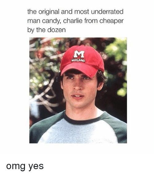 Candy, Charlie, and Omg: the original and most underrated  man candy, Charlie from cheaper  by the dozen  MIDLAND omg yes