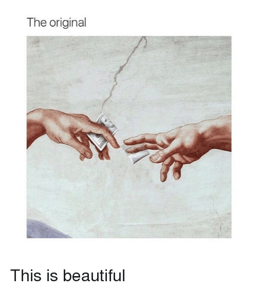 Beautiful, Classical Art, and The Original: The original This is beautiful
