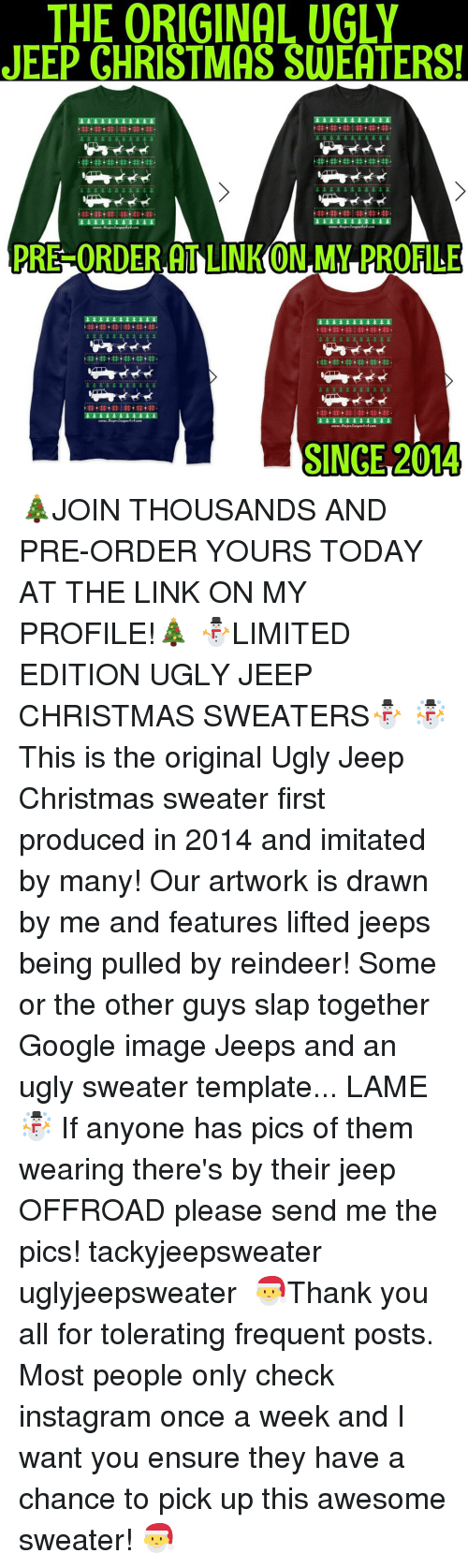 The ORIGINAL UGLY JEEP CHRISTMAS SWEATERS! PRE ORDER ...