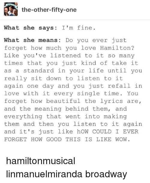 what she says and what she means