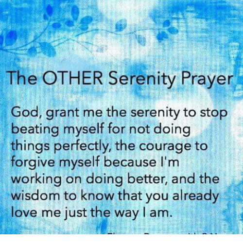 The OTHER Serenity Prayer God Grant Me the Serenity to Stop