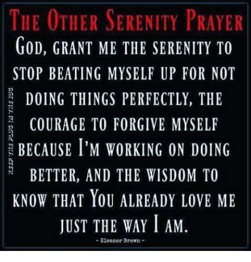 picture regarding Serenity Prayer Printable named The OTHER SERENITY PRAYER GoD GRANT ME THE SERENITY In the direction of Conclusion