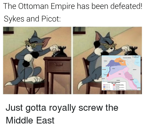 The Ottoman Empire Has Been Defeated Sykes And Picot 100 200 Mi 0