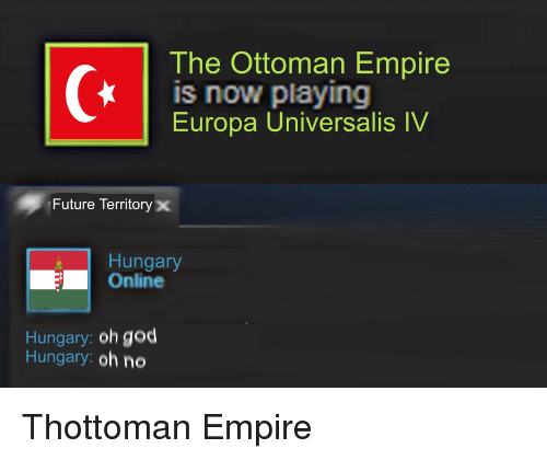 The Ottoman Empire Is Now Playing Europa Universalis IV