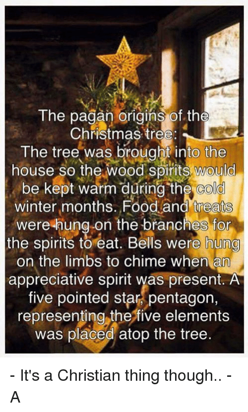 memes winter and appreciate the pagan origins of the christmas tree the