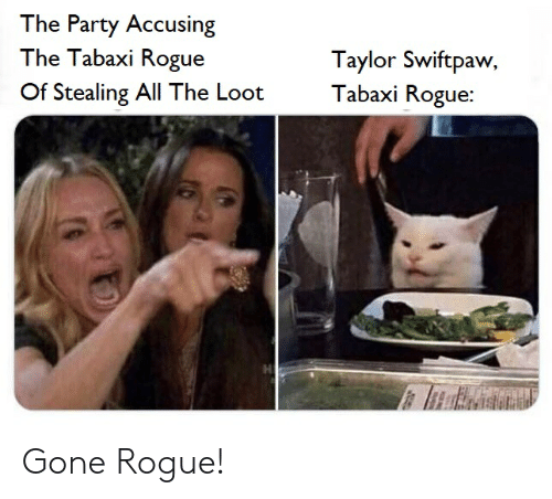 The Party Accusing the Tabaxi Rogue Taylor Swiftpaw Tabaxi