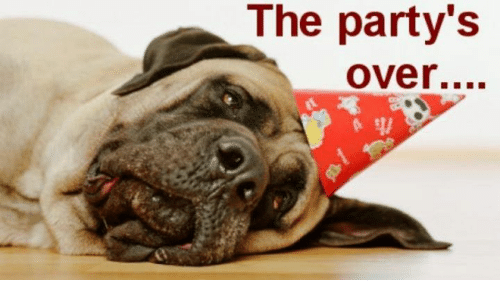 the partys over 10446947 the party's over meme on me me