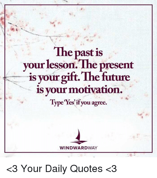 The Past Is Your Lesson The Present Is Your Gift The Future Is Your