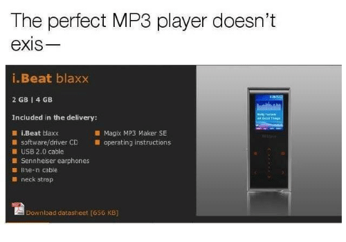 The Perfect MP3 Player Doesn't eXIs iBeat Blaxx 2 GB 1 4 GB