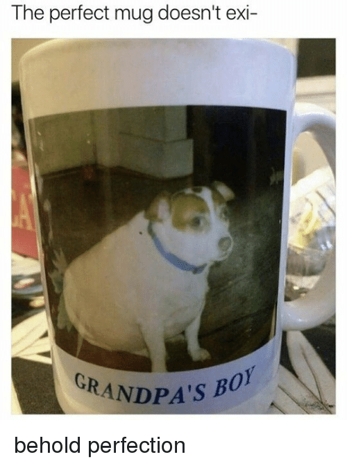 Memes, 🤖, and Beholder: The perfect mug doesn't exi-  GRANDPA'S B behold perfection
