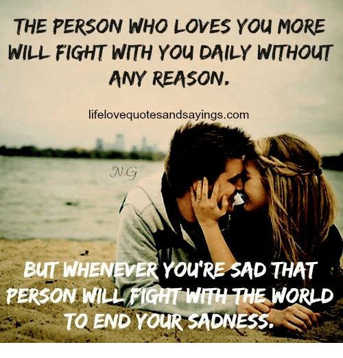 who will love you and who will fight
