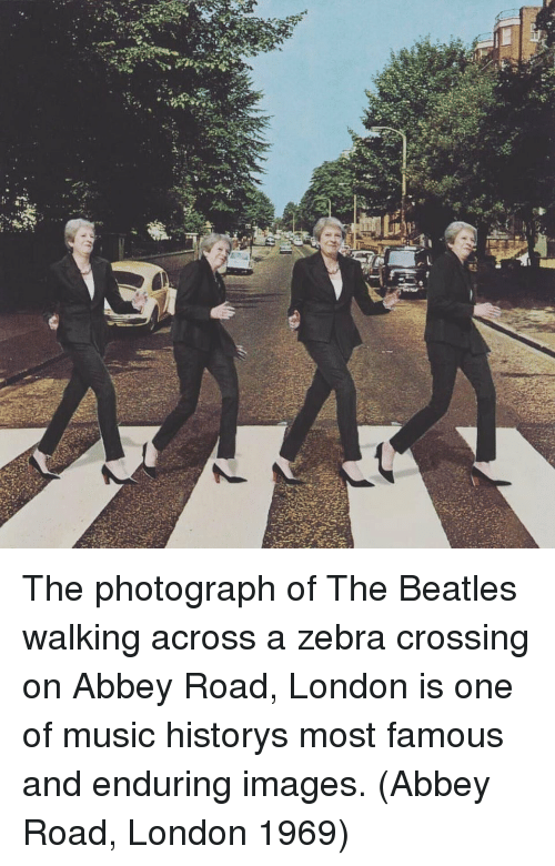 Music, The Beatles, and Beatles: The photograph of The Beatles walking across a zebra crossing on Abbey Road, London is one of music historys most famous and enduring images. (Abbey Road, London 1969)